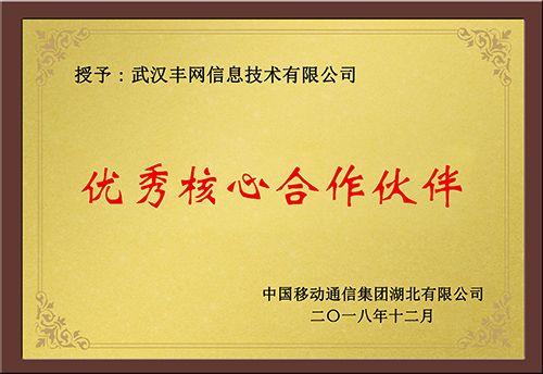中国移动优秀核心合作伙伴